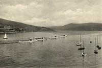Flotila čtyř nejstarších lodí. Zepředu: Veveří (1947-1955), Brno (1946-1968) a Morava (1946-1961), Úderník (1949). Do dnešních dnů existuje pouze poslední jmenovaná pod jménem Brno.
