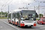 Nový Urbanway 18M z dubnové dodávky přijíždí do vozovny Slatina