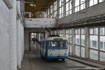První metry v areálu vozovny Komín