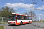 trolejbus 3275 ve smyčce Barvičova během jedné ze svých posledních služeb