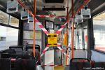 dočasná zábrana v přední části salonu trolejbusu Škoda 21Tr