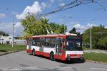 trolejbus 3218 po provedení SO na lince 33 ve smyčce Slatina, sídliště