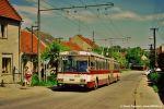 Kolorit tratě do Šlapanic narušily v polovině roku 1990 trolejbusy Škoda 15Tr02 ev. č. 3501-3503, které zde zahájily svůj provoz.