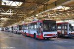 zapůjčený trolejbus 3218 na odstavné ploše vozovny Komín