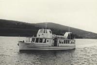Loď Praha je první dvoupalubová loď na Brněnské přehradě, byla vyrobená v roce 1953. Snímek přibližuje její původní podobu.