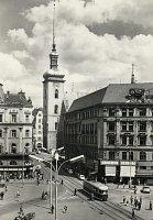 Po zrušení tratě v Kobližné ulici v roce 1958 zůstala na náměstí pouze tramvajová trať z Masarykovy do Rašínovy ulice.